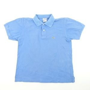 Vintage Lacoste Mens Sz L 5 Blue Polo Shirt A3409